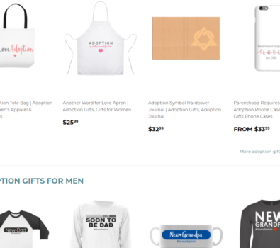 The Adoption Gifts shop is an amazing place to find tons of cute adoption gifts for anyone on their adoption journey, including family, friends, and the whole triad.